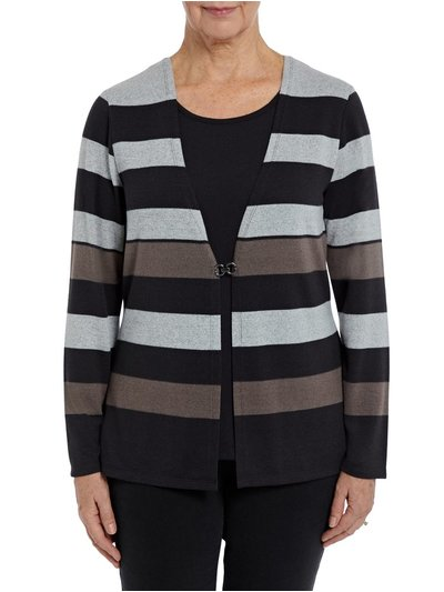 TIGI mock stripe cardigan