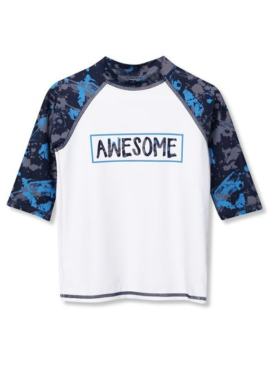 Splatter print rash guard (3-12yrs)