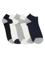 Heel and toe trainer socks five pack