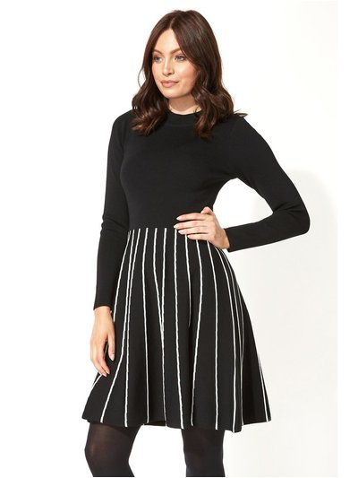 Roman Originals contrast fit and flare knitted dress