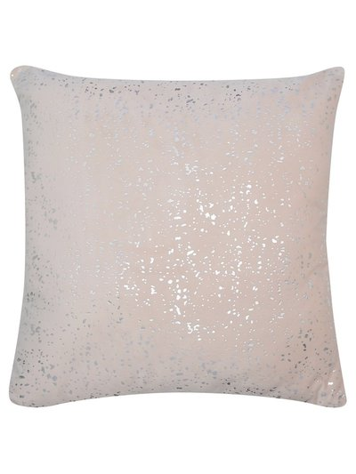 Foil velour cushion