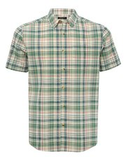 Green check short sleeve shirt