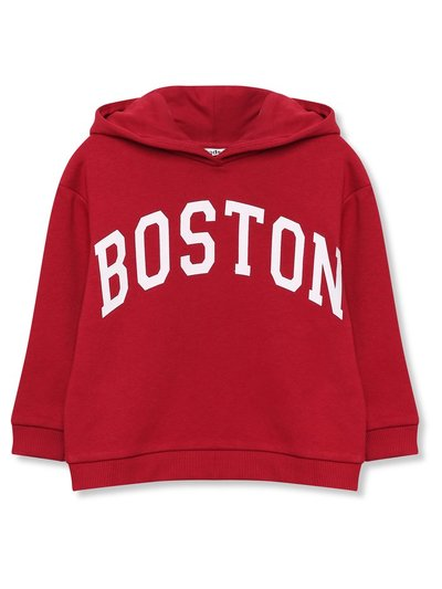 Boston slogan hoodie (3-12yrs)