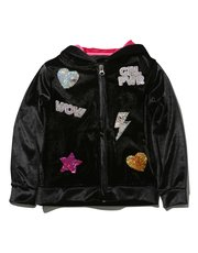 Two way sequin zip up hoody
