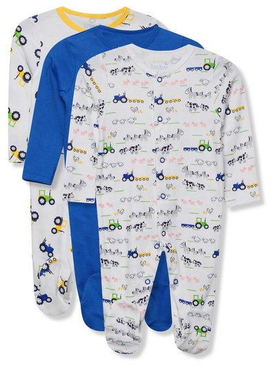 Truck sleepsuits three pack (Tiny baby - 18 mths)