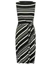 Striped twist front dress