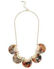 Resin disc statement necklace