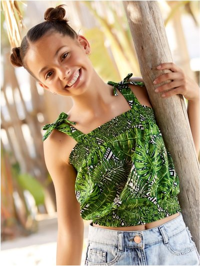 Teen palm print top