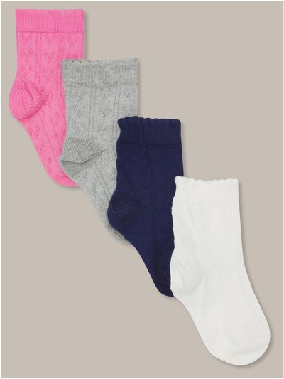 Textured socks four pack