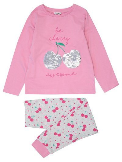 Two way sequin cherry pyjamas (4-12yrs)