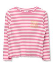 Stripe slogan top (3-12yrs)