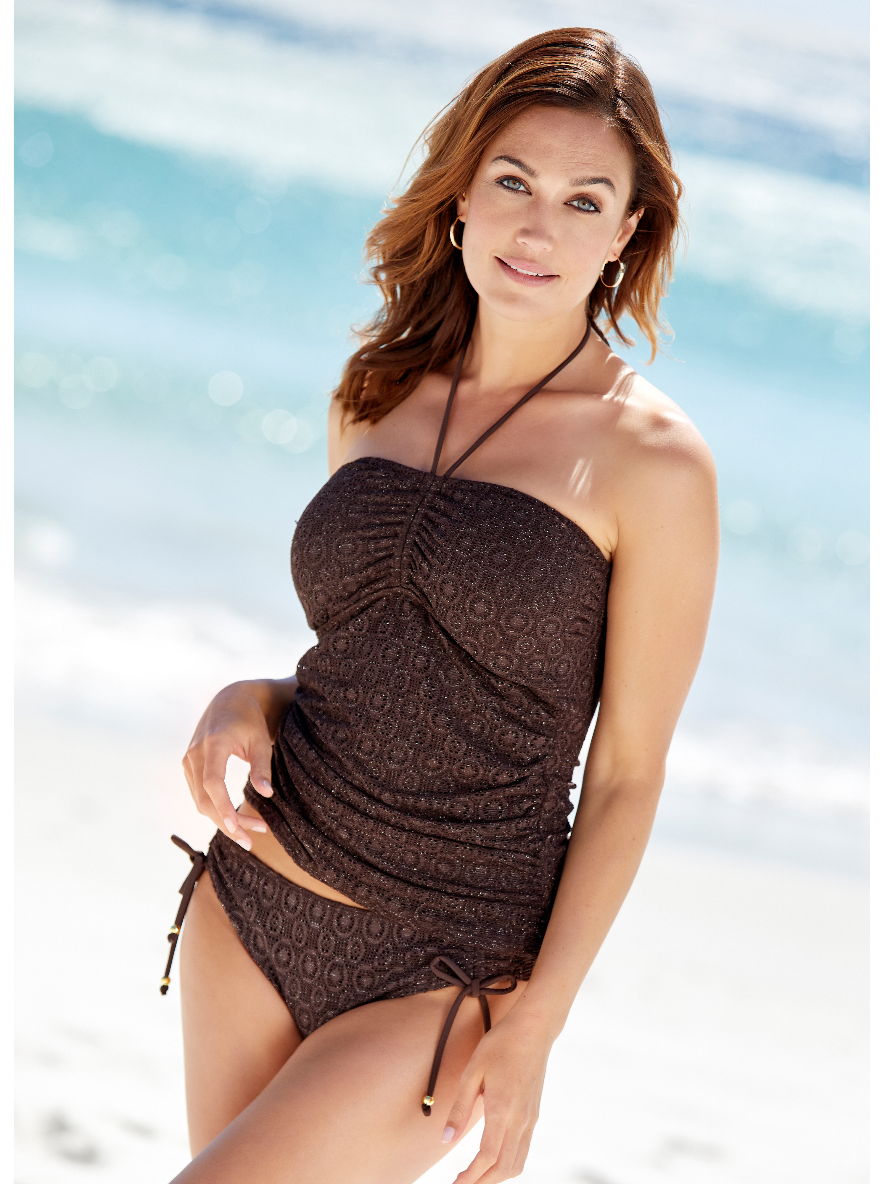 Lurex Crochet Tankini Set