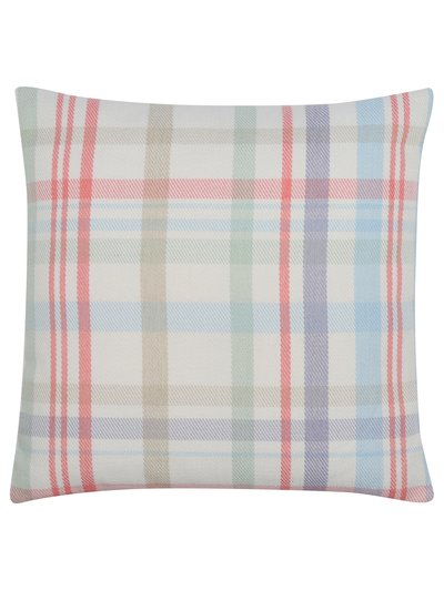 Pastel check cushion