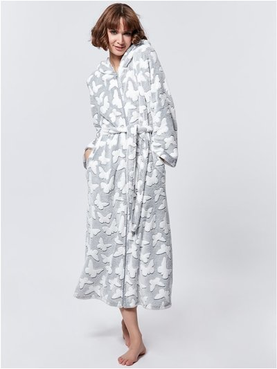 Zip through butterfly dressing gown