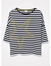 Khost Clothing stripe star top