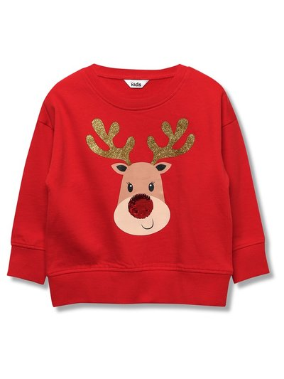 Two way sequin reindeer sweatshirt (3-12yrs)