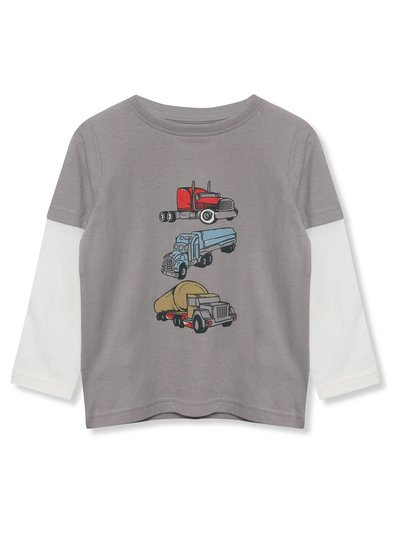 Long sleeve truck t-shirt (9mths-5yrs)