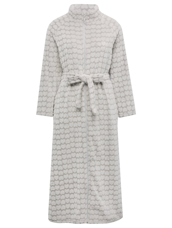 Heart Zip Front Dressing Gown Womens Dressing Gowns Mco
