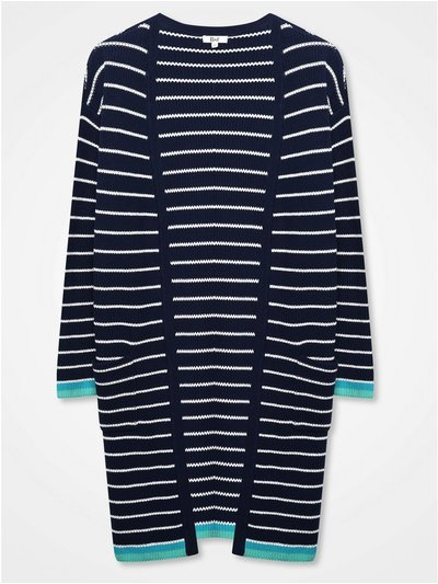 Khost Clothing striped longline cardigan