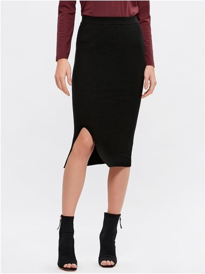 JDY knitted pencil skirt