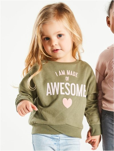 I am made of awesome slogan sweatshirt (9mths-5yrs)