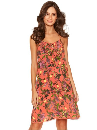 Tropical floral tassel beach dress