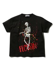 Flossin dance glow in the dark skeleton print t-shirt
