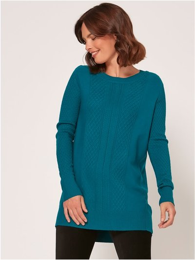 Spirit cable knit tunic jumper