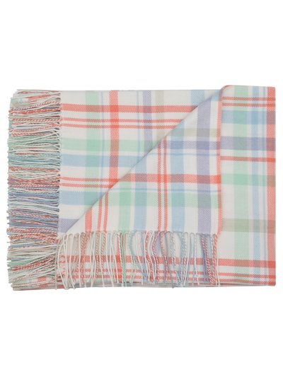 Pastel check throw