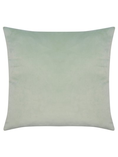 Green velour cushion