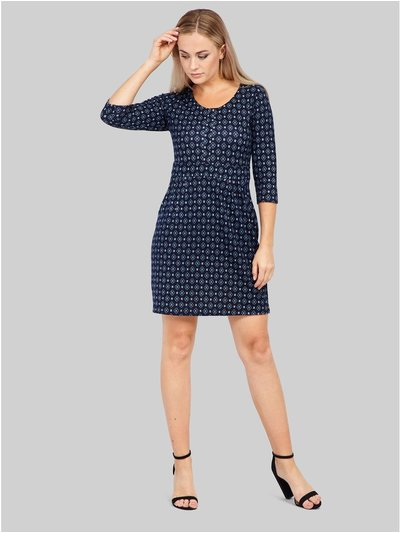 Izabel geo print shift dress
