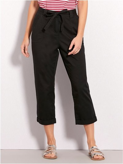 Cropped poplin trousers