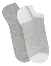 Pretty Polly marl and stripe trainer socks pack of two