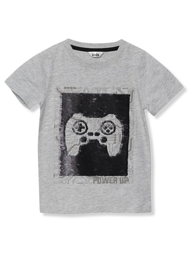 Two way sequin gaming t-shirt (3 - 13 yrs)
