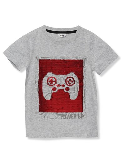 Two way sequin gaming t-shirt