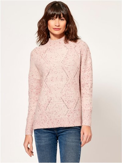 Diamond cable knit jumper