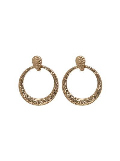 Muse hammered circle earrings
