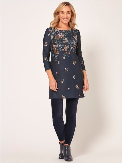 Spirit floral print stud detail dress