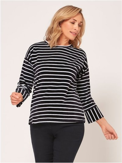 Spirit velour stripe top