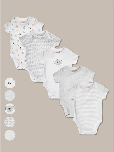 Printed bodysuits five pack (tinybaby-18mths)
