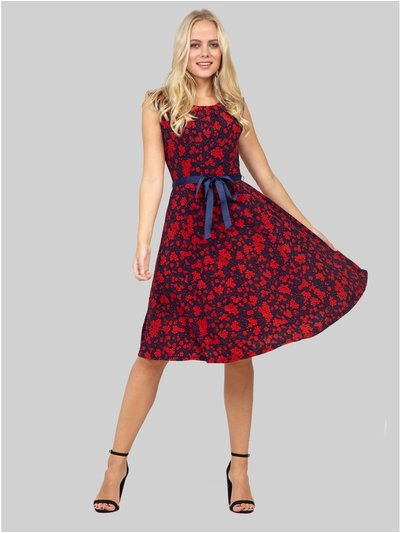 Izabel floral fit and flare dress