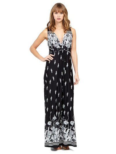 Izabel tribal print maxi dress