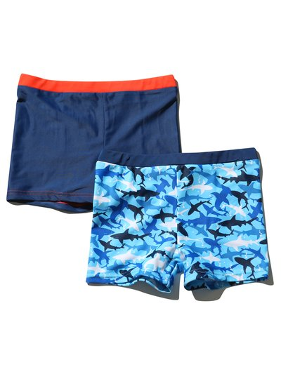 Shark swim trunks two pack (3 mths - 10 yrs)