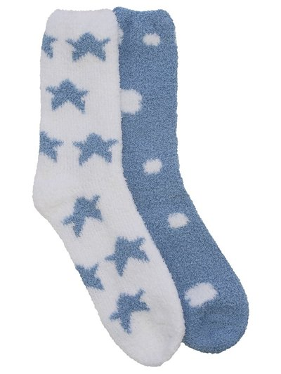 Printed cosy socks two pack
