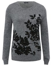 Floral jacquard beaded jumper
