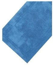 Light blue cotton deep pile bathmat