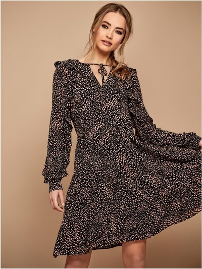 Sonder Studio animal print smock dress