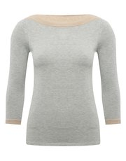 Petite slash neck jumper