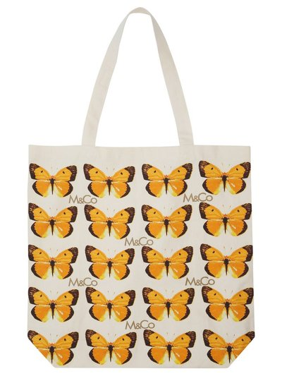 Butterfly print bag for life