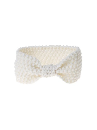 Cream Knitted Bow Bandeau